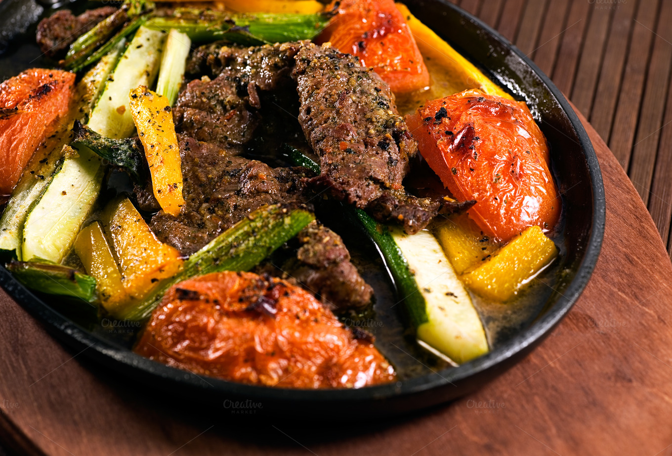 Carne Asada Beef Grilled Vegetables ~ Food & Drink Photos on Creative ...