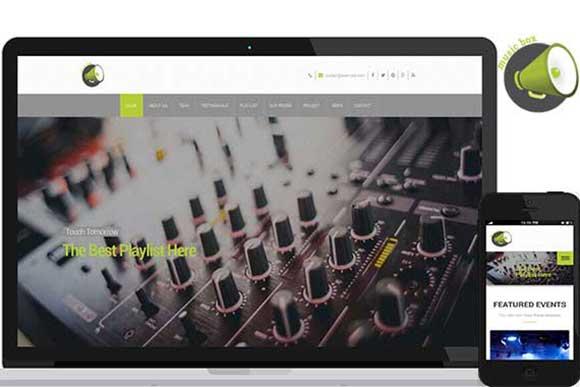 Music Box – Full Responsive Theme - Bootstrap - 1