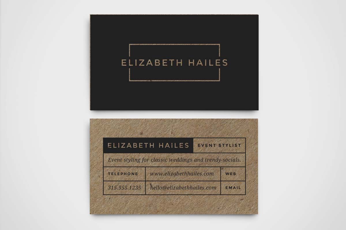 Modern business card template business card templates on for Modern business cards templates