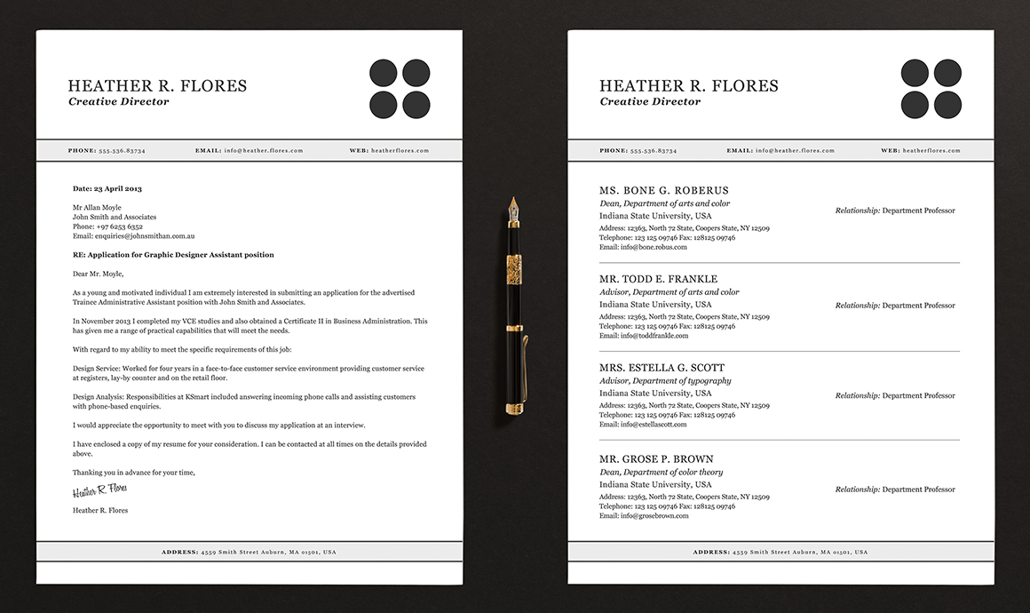 pages resume cv template full set resume templates on creative