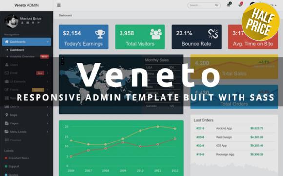 Veneto - Responsive Admin Template - Bootstrap - 1