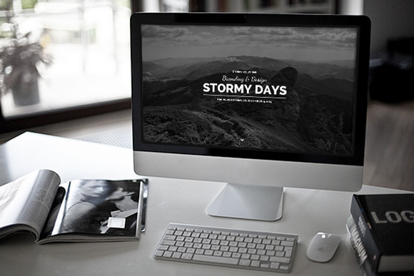 Stormy Day - One Page Blog Theme - Minimal - 1