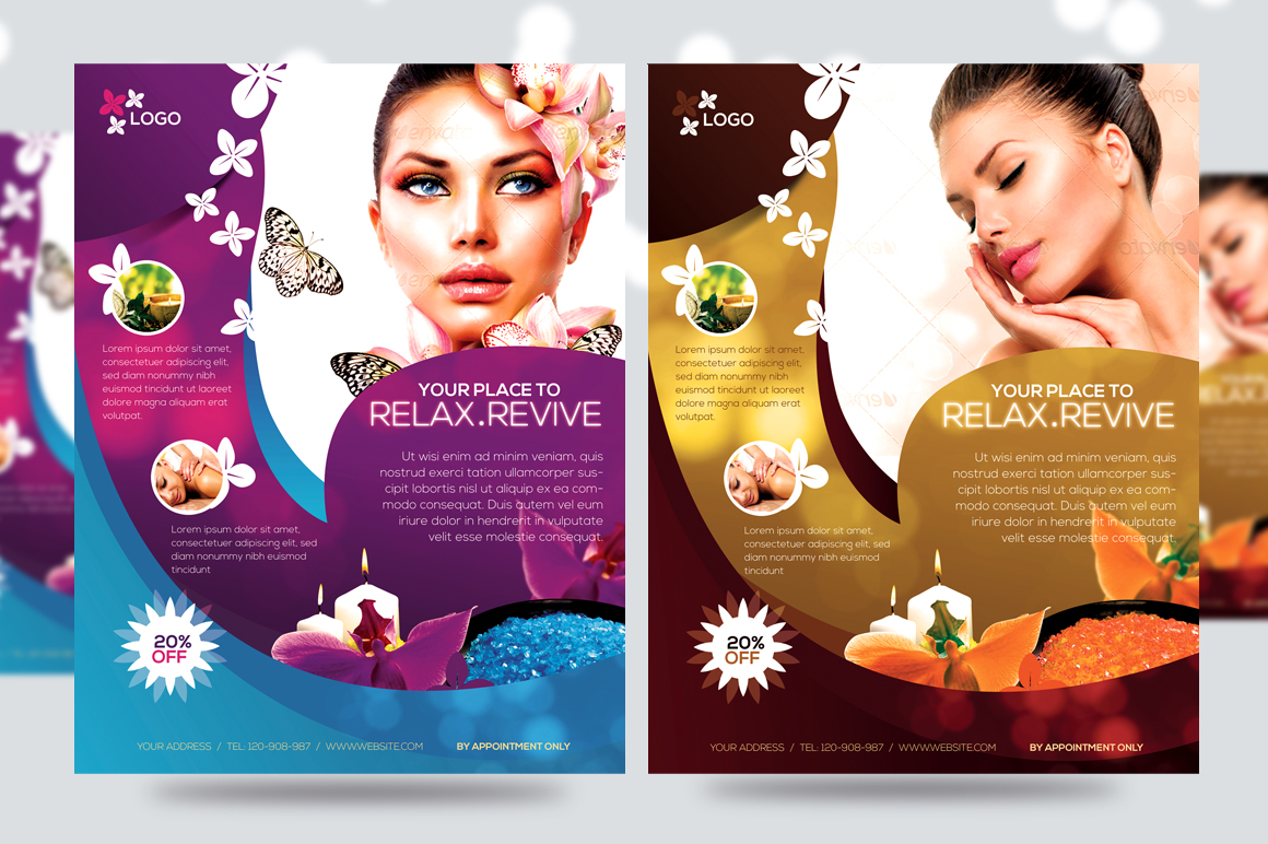Salon Business Cards Templates Free Business Card Sample - Free spa brochure templates