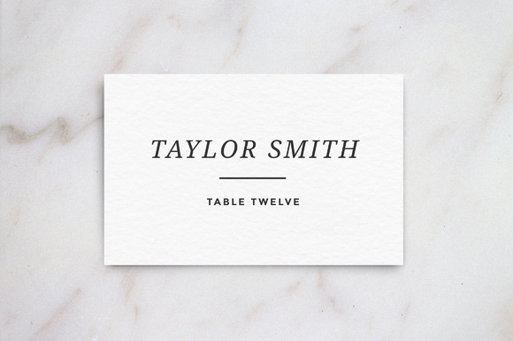 wedding table place card template card templates on creative market