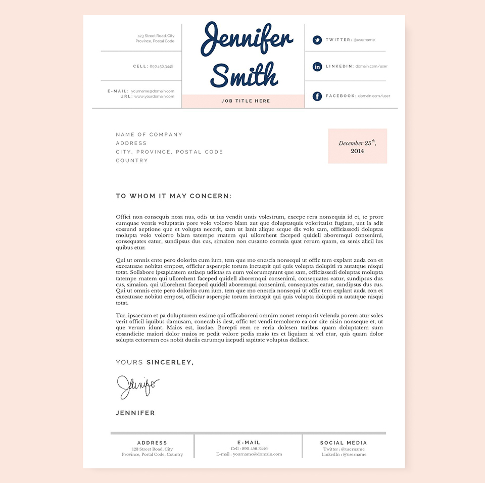 pastel resume  cover letter template