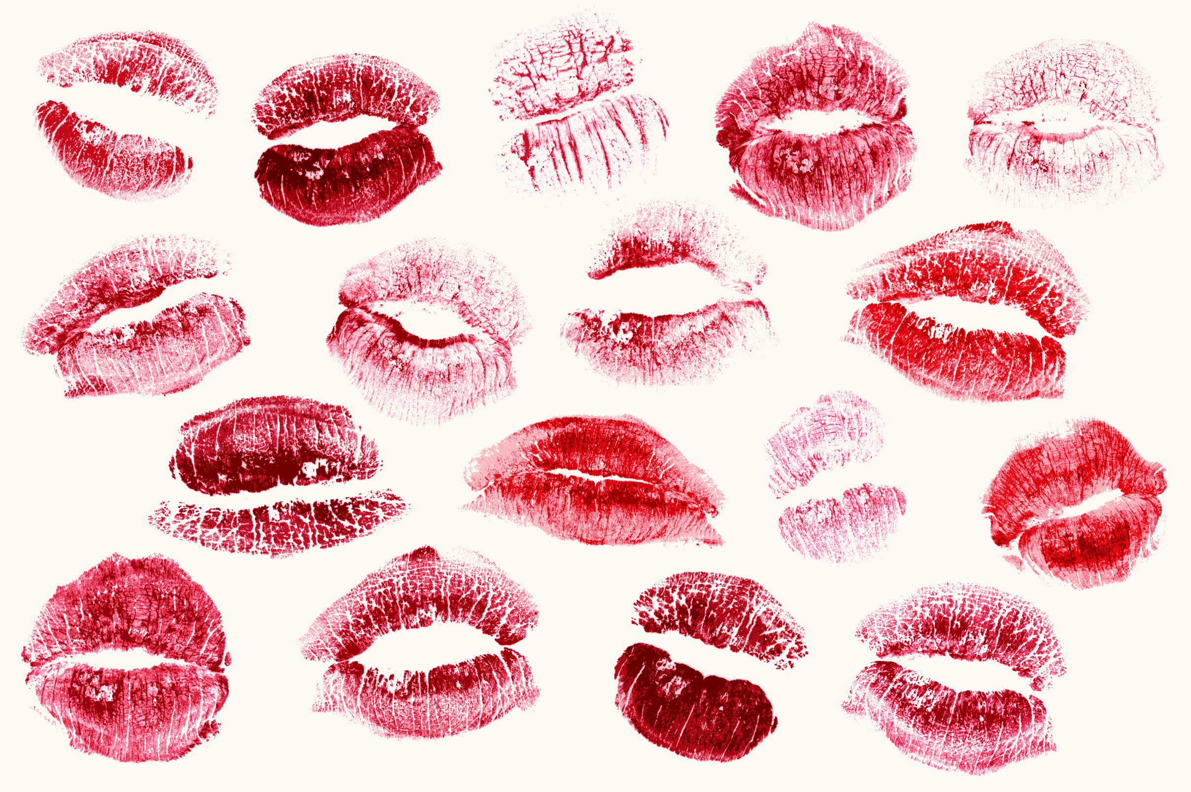Realistic Lipstick Kisses Objects On Creative Market