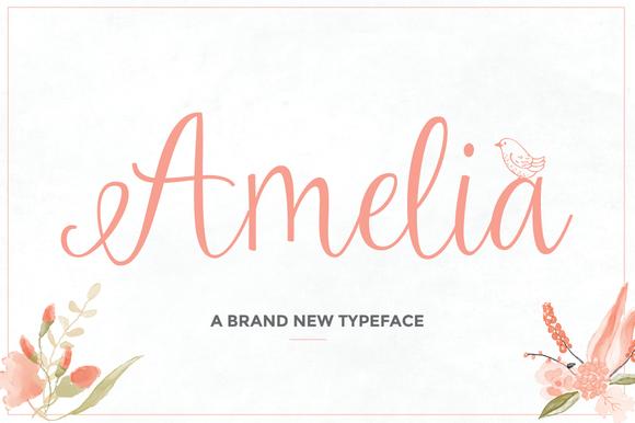 Amelia Script 50 Off Script Fonts On Creative Market