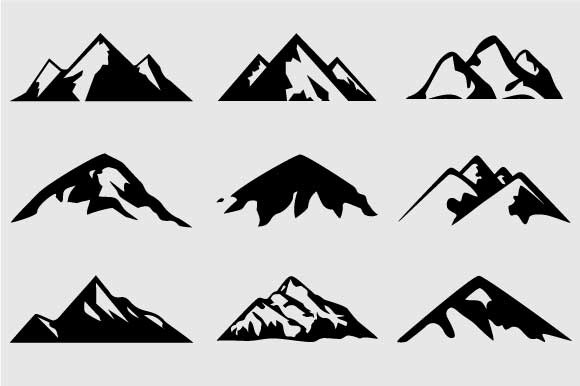 mountain shapes for logos vol 3 shapes on creative market