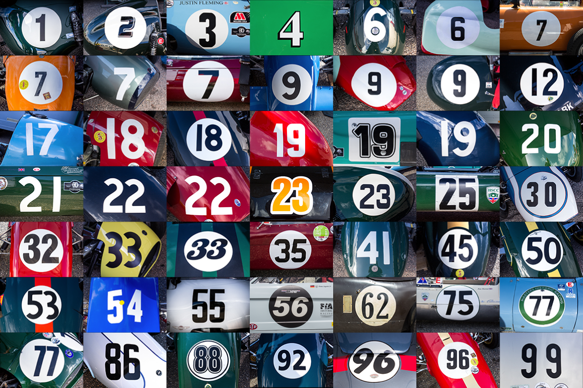 50 Hr Classic Race Car Numbers Sports Photos On Creative
