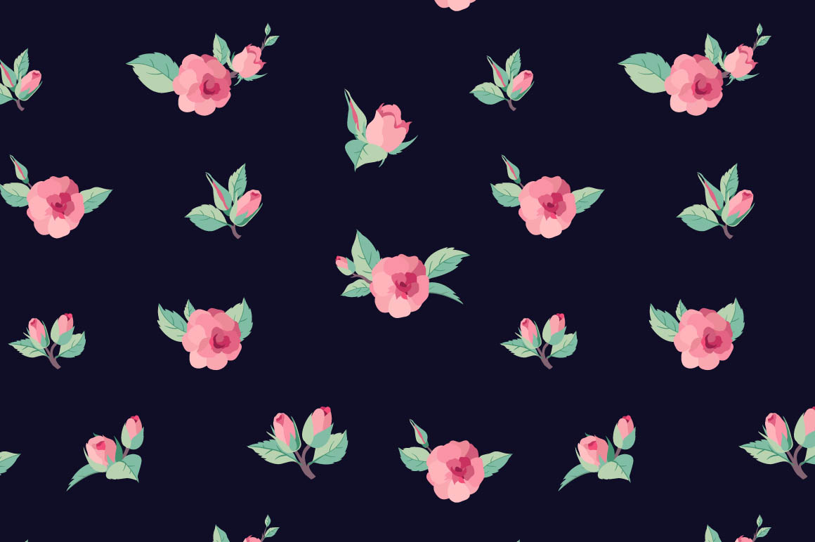 Vintage roses ~ Patterns on Creative Market