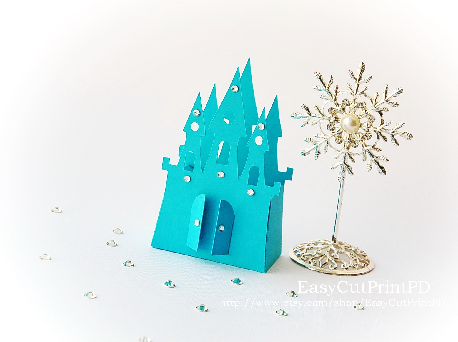 cut out castle template - princess frozen castle box template invitation templates