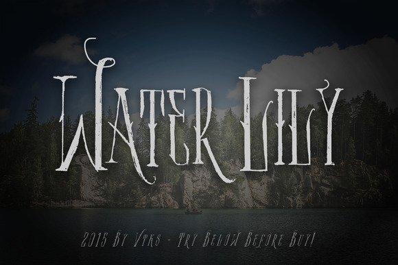 Water Lily font - Fonts - 1