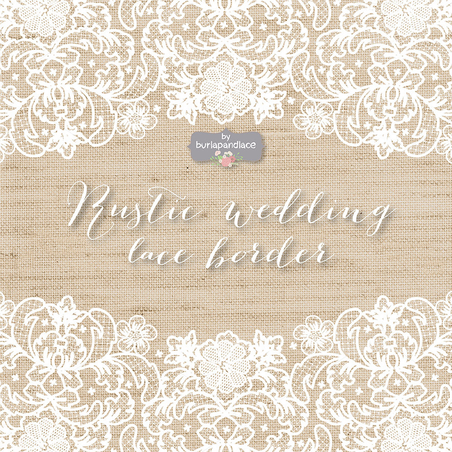 burlapandlace vector lace wedding border clipart