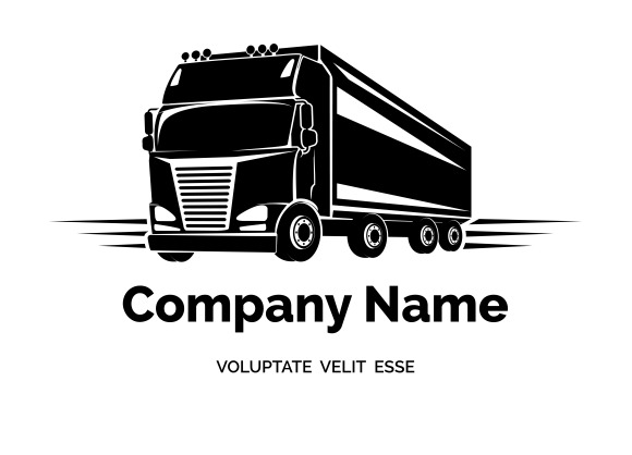 Vector cargo truck ~ Icons on Creative Market
