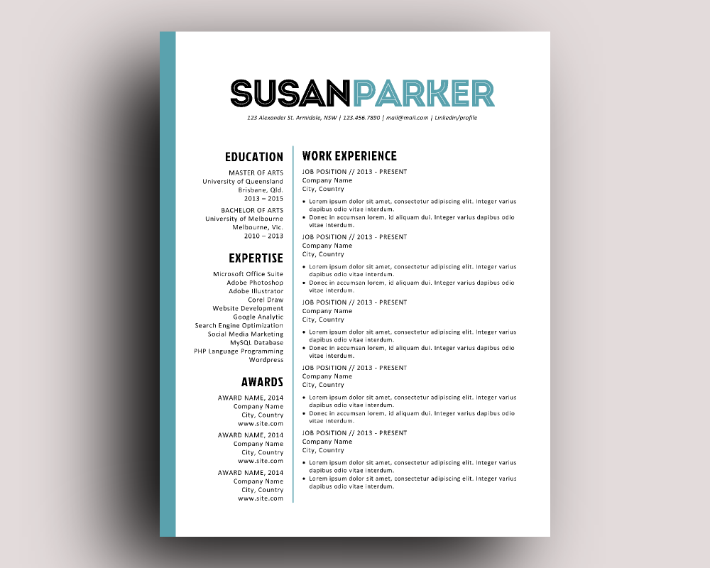 bold modern resume template resume templates on creative