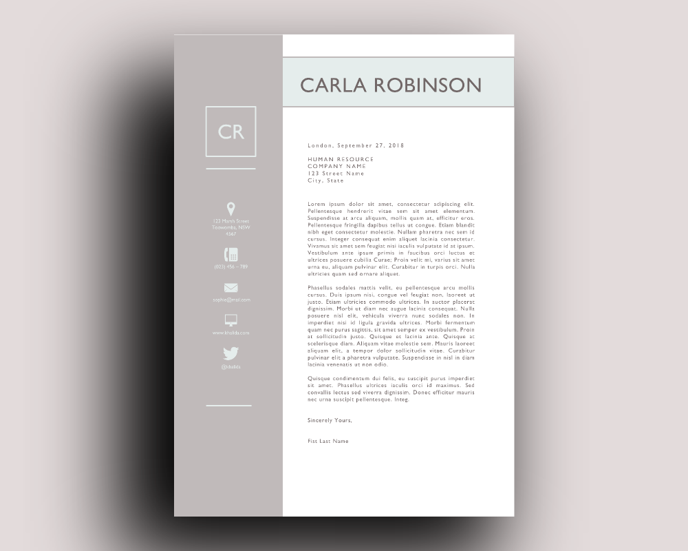 elegant resume template for word