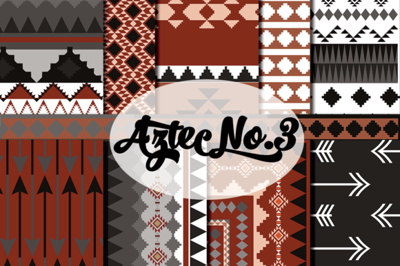 Aztec Tribal In Brown And Gray