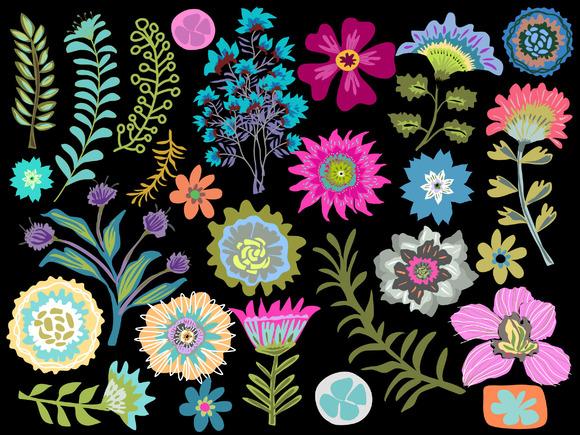 Flower Clip Art 27 Elements