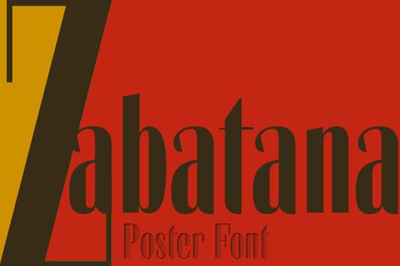 Zabatana Poster