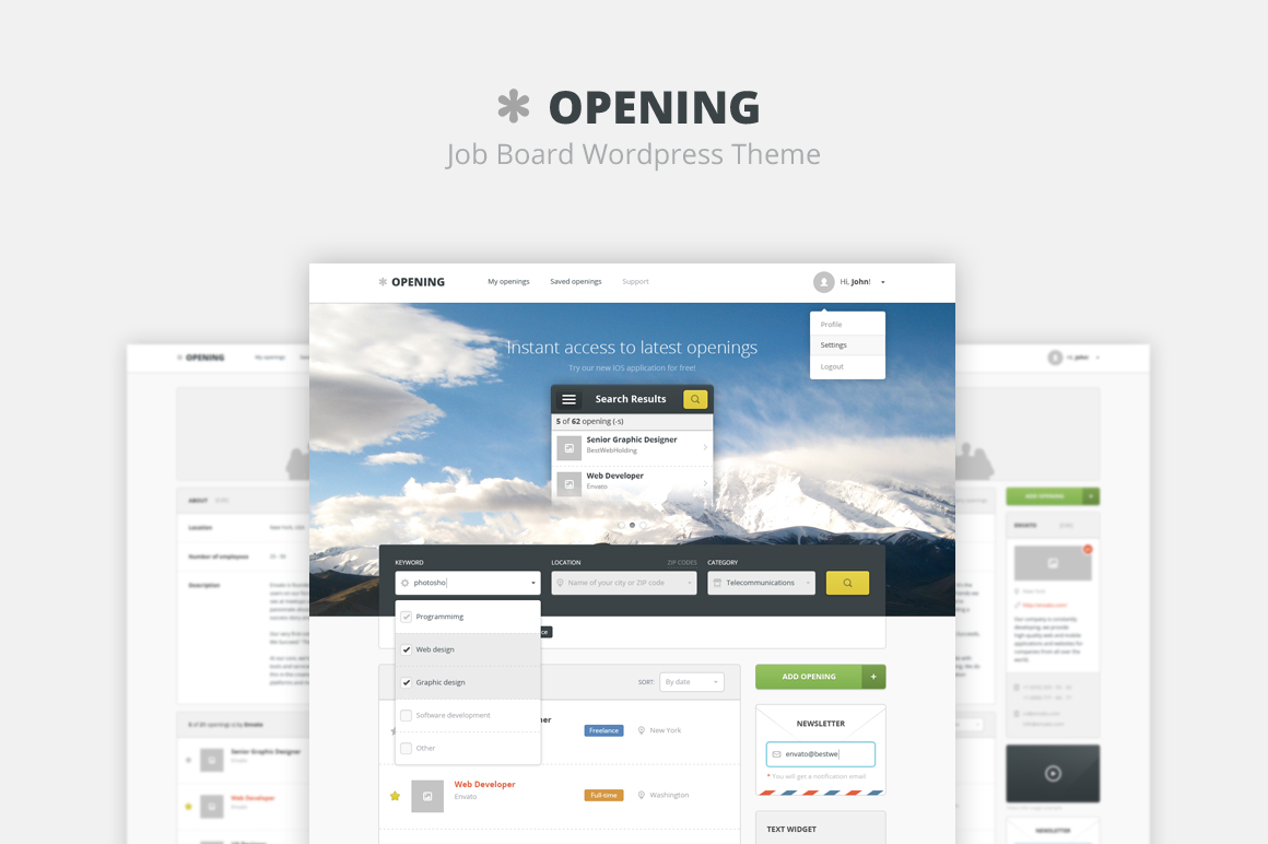 Opening - Job Board Wordpress Theme