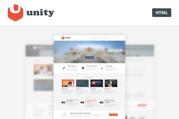Unity - Multipurpose HTML Template