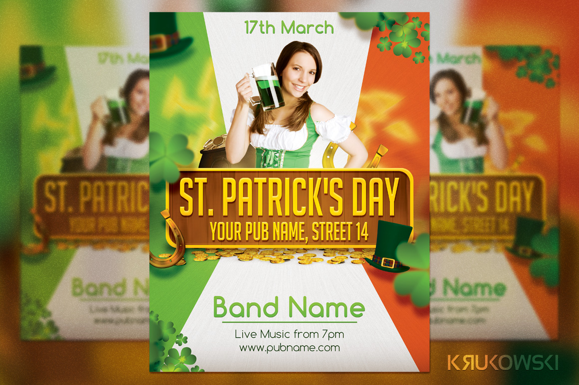 St. Patricks Day Flyer by Krukowski