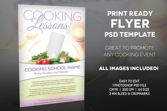 free template flyer design cooking class designtube. Black Bedroom Furniture Sets. Home Design Ideas