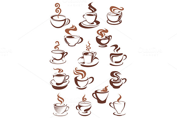 Brown Cups Of Coffee