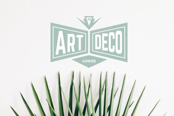 template 20 art deco logos. Black Bedroom Furniture Sets. Home Design Ideas