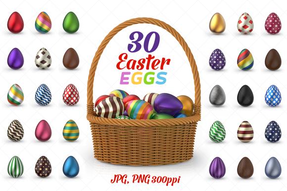 30 Easter Eggs 3D