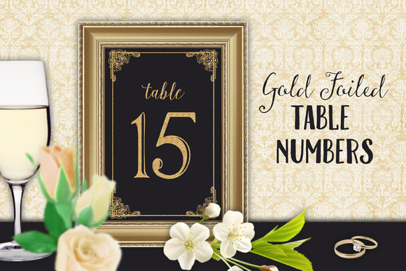 Table Numbers Wedding Reception