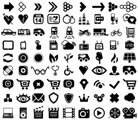 Stock Graphic Collection Of Universal Vector Icons