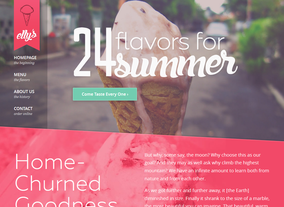 Elly's Ice Cream HTML Template - Websites - 1