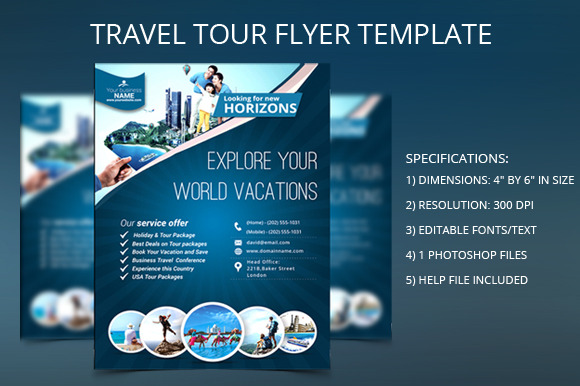 Travel flyer free template designtube creative design for Book signing poster template