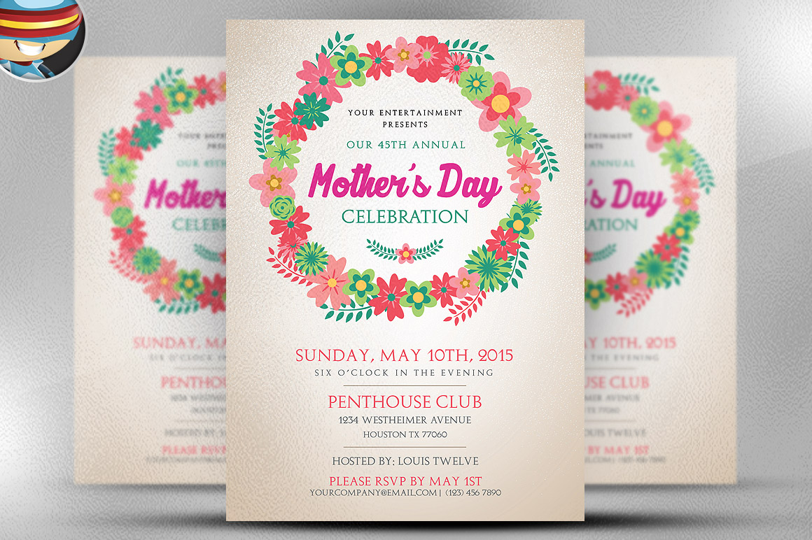 mother u0026 39 s day flyer template