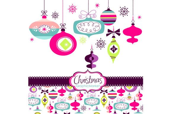 Christmas Clip Art, ornaments, balls ~ Illustrations on ...