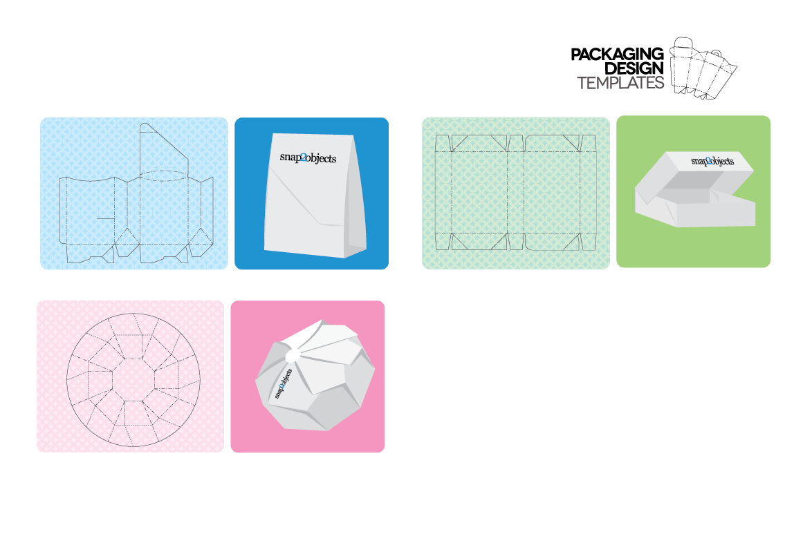 Packaging Design Templates ~ Stationery Templates on ...