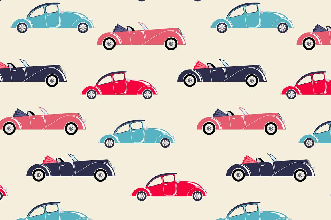 Retro Cars Illustrations On Creative Market