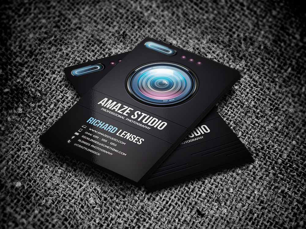grapher Lens Business Card Business Card Templates