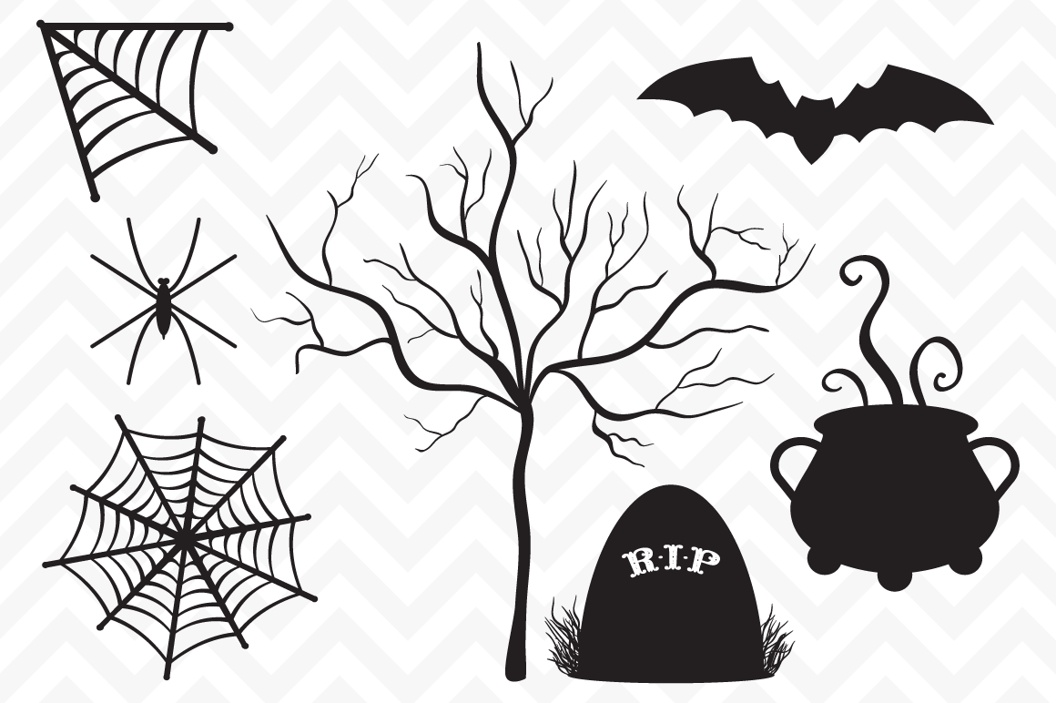 Halloween Witch Silhouette Templates