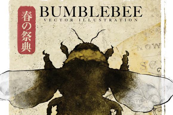Bumblebee Vector Illustration