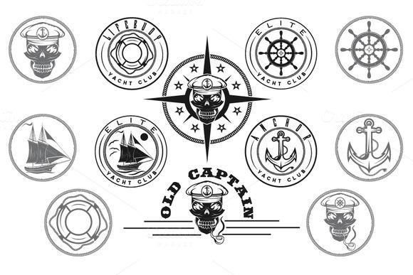 Yacht Club Labels