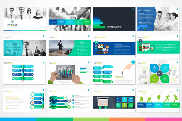 Creativemarket Project Modern Powerpoint Template 223351 Other