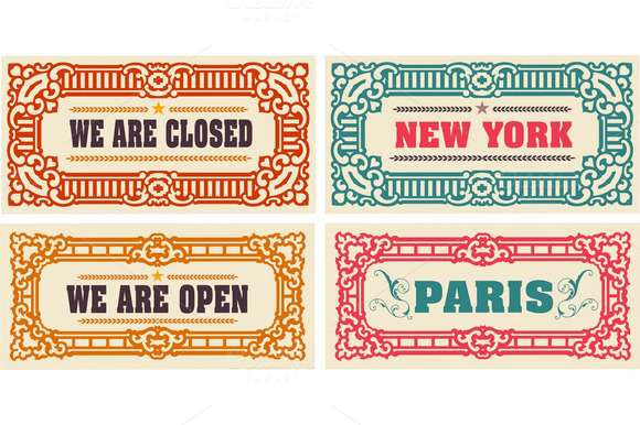 Retro Cards And Door Signs