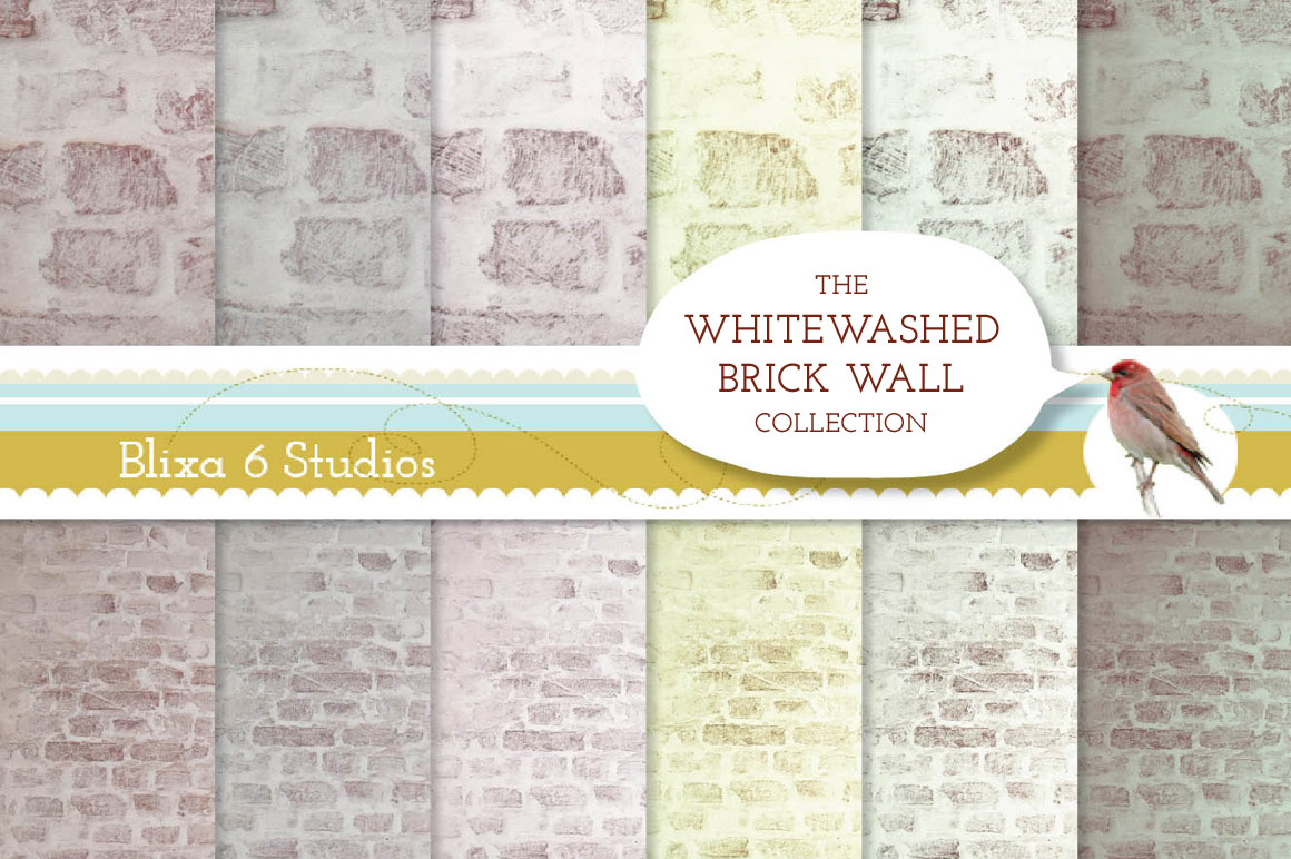 Whitewashed Brick Wall Backgrounds Textures On Creative