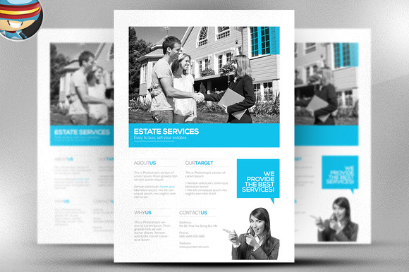 psd real estate marketing flyer template