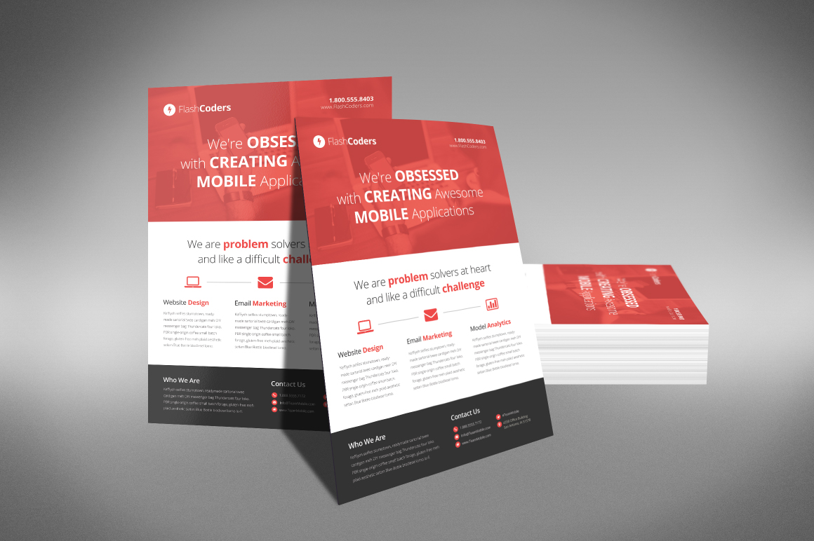 flat design corporate flyer