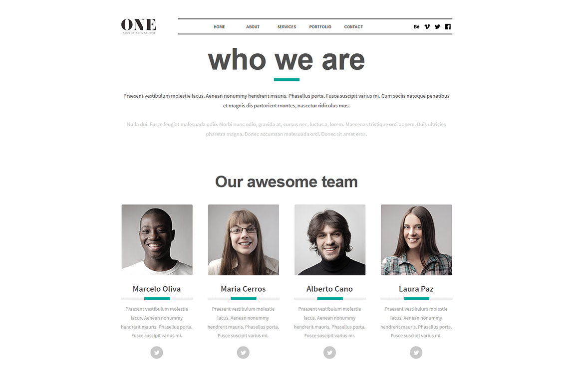 50 One Adobe Muse Theme Website Templates On