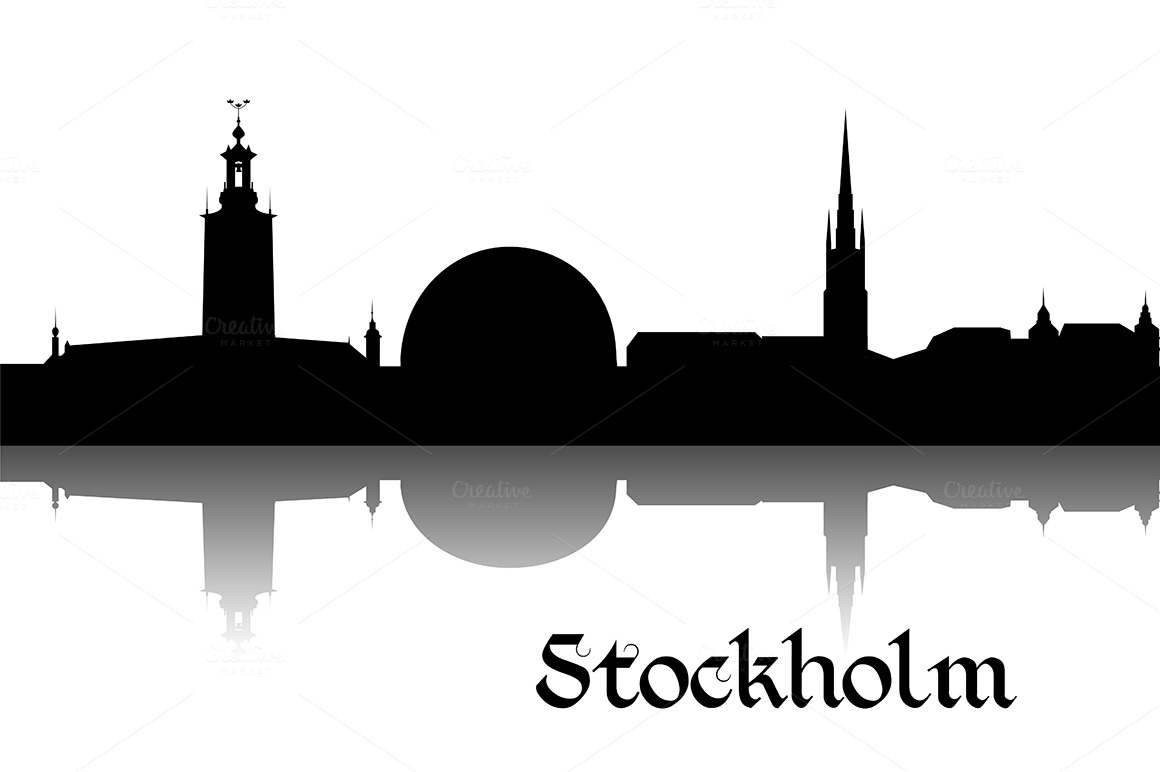 Silhouette of Stockholm ~ Illustrations on Creative Market