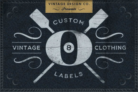 custom vintage clothing labels objects on creative market